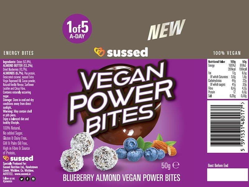 Vegan Power Bites Blueberry Almond