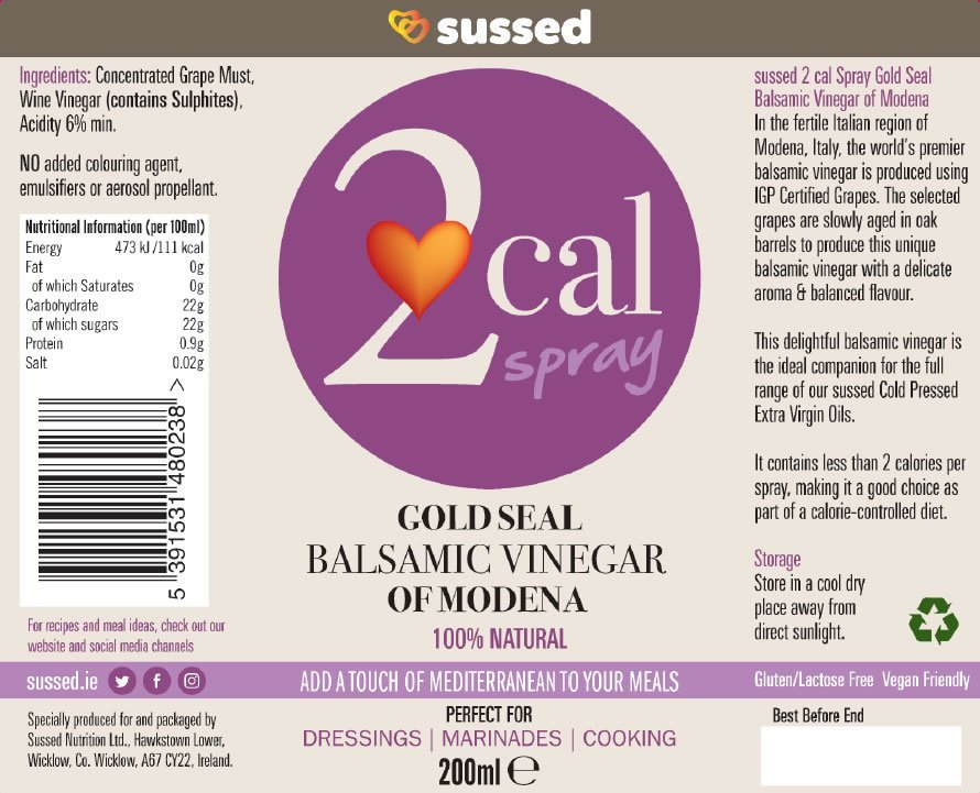 Nutrition Information 2cal Balsamic Vinegar of Modena