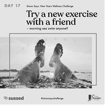 try a new exercise with a friend